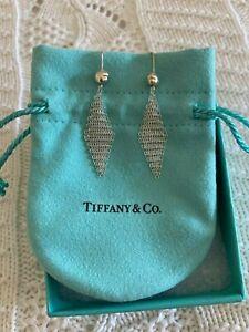 Elsa Peretti Tiffany & Co. Silver Mesh Dangle Earrings NWOT