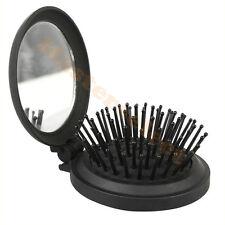 Cepillo cabello plegable de viaje para mochila man con espejo