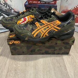 Bape x Asics Gel 1090 Shoe - Men's Size 10.5 - A Bathing Ape Tiger Camo Green