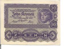 AUSTRIA, 10 KRONEN, P#75, 1922