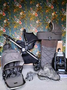 Mamas & Papas OCARRO CHESTNUT Full travel system 3 in 1 PUSHCHAIR Pram Stroller