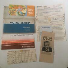 1972 DUSTER 340 / VALIANT Owners Operators ORIGINAL FACTORY MANUAL Glove Box PKG