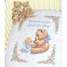 Dimensions Stamped Cross Stitch Kit - Sweet Prayer Baby Quilt