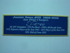 Junior Seau Autograph Nameplate San Diego Chargers Autograph Helmet Jersey