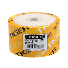 SPECIAL! 100-PK Tiger Brand 16X White Top DVD-R Blank Disc 4.7GB