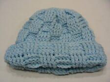 bleu clair - fait à la main - Acrylique - Taille Unique BAS casquette bonnet