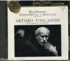 Toscanini Collection Vol. 23 - Beethoven:  Sinfonie N.3 & 8 - CD