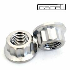 M10 x 1.25 Titanium Bi Hex Flange Nut 12 point Ti sprocket gr5 CNC Ducati 2 Pack