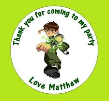 Personalised Ben 10 48mm Birthday Stickers Party Thank You Seals