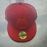 OVO OLD SOUL owl fitted Hat size 8 red DRAKE NEW ERA 5950
