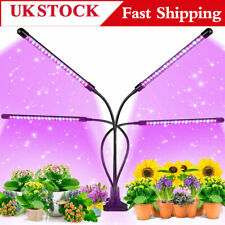 More details for 4 head led grow lights growing veg flower for indoor clip plant lamp + adapter