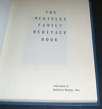 THEY McKINLEY FAMILY HERITAGE BOOK GENEOLOGY BEATRICE BAYLEY 1979 RESEARCH RARE
