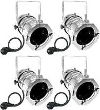 4x PAR-30 Spot-Light Silber m. E27 Fassung & Stecker PAR 30 Scheinwerfer Varytec