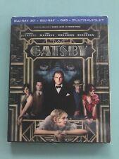 The Great Gatsby   (3D Blu-ray+Blu-ray+DVD+Digital w/slipcover)   LIKE NEW