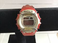 Vintage Casio Baby G BG-161 Watch Red/silver  Red Display Red Silicone Strap