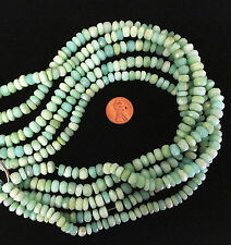 "16"" Strand PERUVIAN OPAL Facetted Rondelles 8mm x 5mm"