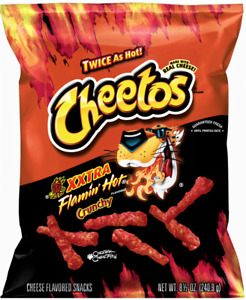 CHEETOS XXtra 'flamin Hot' Crunchy scharfer Käse Mais Snack 240 gr Original USA