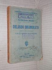 ORLANDO INNAMORATO Matteo Maria Bojardo Sonzogno Biblioteca classica economica