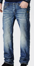 G Star Raw Attac Low Straight Fit Denim Jeans Mens Med Aged Size 27W 32L *REF59