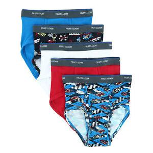 New Fruit of the Loom Boy's Fashion Briefs Underwear (5 Pack)