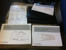 Genuine Vauxhall Zafira 2003 Audio & Owners Manual - printed 2003 with Wallet