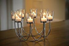 Tea Light Glass Candle Holder Wedding Christmas Table Centrepiece