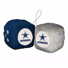 NFL Dallas Cowboys Fuzzy Soft Plush Hanging Dice Home office Car Truck
