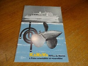 Antique Catalogue Propellers Marine Kamewa With Pale Adjustable