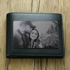 Engraved Picture Wallet Insert Custom Front & Back Options Stainless Steel Baby
