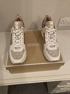 Women's Michael Kors Georgie Trainer. Pink Combination. UK 8/ US 10. BNIB