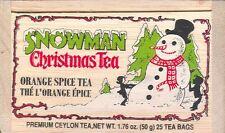 Snowman Christmas Orange Spice Tea - 25 Bags in Box