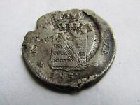 Error 1853F German States SAXONY-ALBERTINE 2 Neu-Groschen, 20 Pfennig.