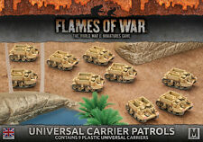 Flames of War NUOVO CON SCATOLA Universal carrier PATTUGLIE (Plastica) BBX35