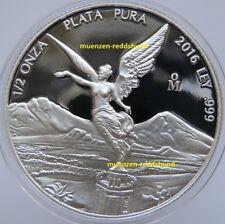 Libertad 1/2 onza plata 2016 méxico placa pulida