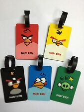 Free Shipping 1 Piece Angry Bird Travel Luggage Tag 3D w/ Fine Rubber ID Holder