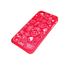 NEW RED HAPPY COFFEE ADDICT DESIGN APPLE IPHONE 4 4S CASE SUPER FAST SHIPPING