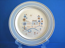 Dinner Plate Primitif Hearthside Museum Collection Blue Band Country House Scene