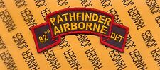 US Army 82nd Pathfinder Airborne Detachment Infantry Aviation scroll patch