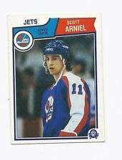 1983-84 OPC # 379 JETS SCOTT ARNIEL ROOKIE CARD