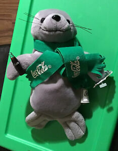 Coca Cola Seal Bean Bag Plush Stuffed Animal Toy VTG DOLL 1998 New w/ tags 8""