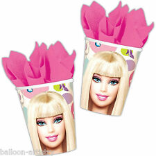 8 Rosa Moda Barbie Fiesta Cumpleaños Tazas de papel 9oz