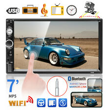 """7"""" 2Din Car Stereo Radio HD Touch Screen USB/TF Android IOS MP5 Player +Camera"""