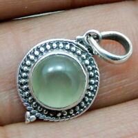 Solid 925 Sterling Silver Aqua Onyx Gemstone Pendant Necklace Jewelry