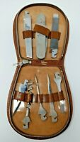 VINTAGE TOOL KIT with Attachments Alker Germany Leather Rumpp Case