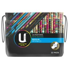 U By Kotex Ultra Thin Designs Regular Pads With Wings 22 pack