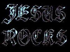 Jésus Rocks transfert à repasser strass cristal transparent strass design