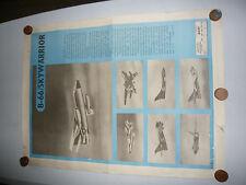 Rare Vintage Original 1955 b66 Sky Warrior Aircraft 'Poster