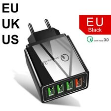 QC3.0 carga rápida 4-puertos USB cargador de pared adaptador de corriente EU US