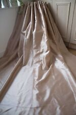 MUSHROOM MINK CURTAINS,46WX90D,LIGHT MINK,TAPE TOP,LINED,FAUX SILK,SHIMMER,1OF2