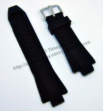 Comp Michael Kors Dylan MK8406 MK8445 - 13mmx29mm Black Rubber Watch Band Strap